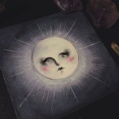 "Watercolor painting, ""Luna"", now available http://darktownsally.storenvy.com/"
