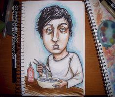 Ed Droste Eating by Polas.deviantart.com on @DeviantArt