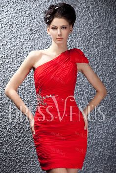 Fabulous Column One-Shoulder Prom/Cocktail Dress Special Occasion Dresses