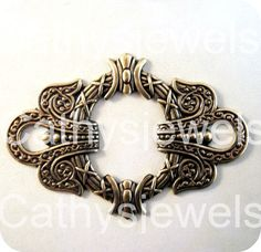 Celtic Design Filigree Stamping by Cathysjewels on Etsy (Craft Supplies & Tools, Jewelry & Beading Supplies, Findings & Hardware, Blanks, findings, vintage, jewelry, brass stamping, assemblage, embellishment, metal, antique, pendant, filigree, celtic, blank, charm)