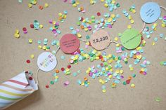 Confetti invitations.  (Originally for a wedding, but I think they'd be great for a kid's birthday party!)