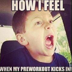 How I feel when my preworkout kicks in. #bodybuilding