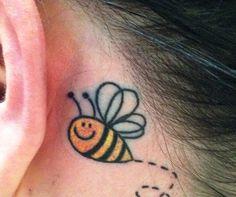 Risultati immagini per cute bee tattoo Bee Tattoo, Cute Bee, Ear, Tattoos, Tattoo Ideas, Beekeeping, Tattoo, Bumble Bee Tattoo, Ears