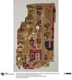 Textile, Huari culture, Peru. Staatliche Museen zu Berlin, Preußischer Kulturbesitz, Ethnologisches Museum