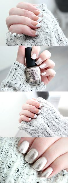 NAIL TUTORIAL | Getting beautiful and natural looking nails that last for weeks | Nailart, fake nails, faux nails, false nails, french manicure, mani, frenchies, OPI, gold, champagne, 'Designer de better', tips and tricks