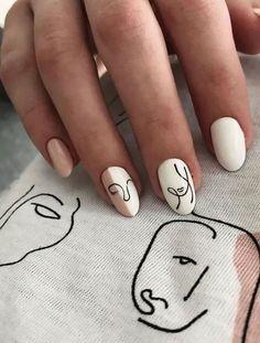 White Nail Designs, Simple Nail Designs, Short Nail Designs, White Nails With Design, Designs For Nails, Nail Designs For Spring, Neutral Nail Designs, Elegant Designs, Simple Nail Art Designs