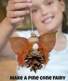 Love crafting with nature? Collect some pinecones and make some adorable little fairies.   Autumn must surely be the most generous season of all. When we go out for our walks, one thing we make sure to remember is our basket to carry the multitude of treasures we find along the way.