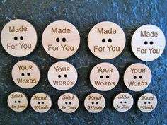 Custom Laser Engraved Buttons by WearhouseIndustries on Etsy