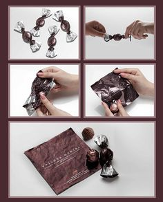 Choko la's candy wrapper business card