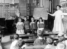 Chelsea, England, spelling lesson, 1912.
