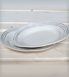 Striped Porcelain Plate | Home Dining & Barware | BTW Ceramics | Scoutmob Shoppe | Product Detail