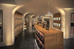 Wine room at Le Bon Marché department store Paris