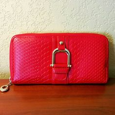 I just discovered this while shopping on Poshmark: 💲29✂NWOT Red Lizard Zip Around Wallet🎉HP. Check it out! Price: $45 Size: One Size, listed by lovelymey