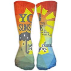 Design You Are My SUNSHINE Stylish Art Knee High Socks For Women andGirl -- Go to the picture web link more information. (This is an affiliate link). Baby Girl Socks, Girls Socks, Knee High Socks, My Sunshine, Cute Babies, Stylish, Link, Design, Women