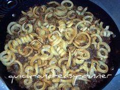 hamburger and fries casserole