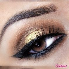 Gold Satin & Winged Liner