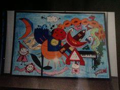 Barnekunst: alt det gode. malt av Gro Wavik.