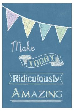Make Today Blue Canvas Wall Art by Inspiring Word Play on by Kendra Jensen Blue Canvas, Canvas Wall Art, Cool Words, Wise Words, Wall Art Crafts, Think Happy Thoughts, Graphic Quotes, Quotes And Notes, Word Play