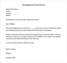 Is Receival A Word Acknowledgement Letter Templates U2013 Free Samples,  Examples .
