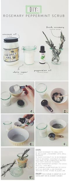 DIY Rosemary Peppermint Scrub!
