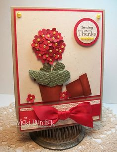 Stampin' Up!  Punch Art  Vicki Burdick at It's a Stamp Thing