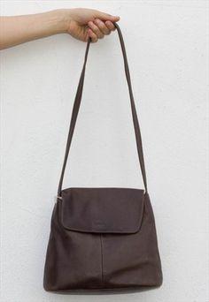 Vintage 90's Soft Leather Shoulder Bag