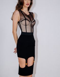 Explore the Avant-Garde ~ Murmur Lingerie - Lingerie Briefs ~ by Ellen Lewis Risque Lingerie, Peplum Dress, Bodycon Dress, Ideal Shape, Signature Collection, Black Bodysuit, Female Bodies, Fascinator, Feminine