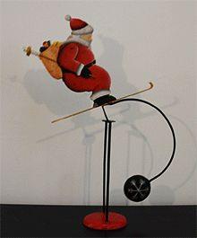 skiing Santa balance toy