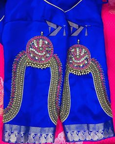 Hand Work Blouse Design, Simple Blouse Designs, Fancy Blouse Designs, Latest Embroidery Designs, Border Embroidery Designs, Saree Kuchu Designs, Wedding Saree Blouse Designs, Aari Embroidery, Embroidery Stitches