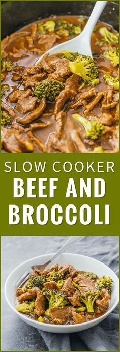 Check out the slow cooker version of my popular beef and broccoli recipe. Easier to make, healthier, and tastes way better than takeout. crock pot, easy, stir fry, keto, healthy, recipe, pioneer woman, slow cooker, paleo, chinese, sauce, noodles via @savory_tooth