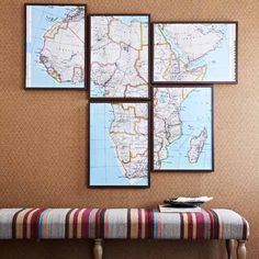 Give your next gallery wall project a well-traveled spin with this large-scale map wall art idea.