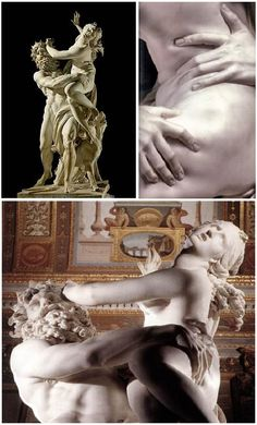 """Bernini's """"The Rape of Proserpina"""". probably my favorite piece of baroque art, so beutiful, it really never ceases to amaze me"""