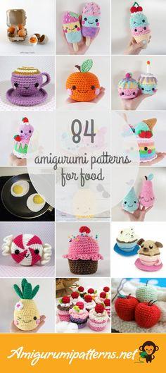 Amigurumi Patterns For Food Crochet Food, Cute Crochet, Crochet Crafts, Crochet Projects, Knit Crochet, Easy Crochet Stitches, Beginner Crochet, Crochet For Beginners, Learn To Crochet