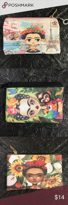 """❤️ New Frida Kahlo Coin Purse Change 2 Pc Set New, price is for 2 you choose! Approx. 3.5"""" x 5"""" Cielito Lindo  Bags Clutches & Wristlets"""