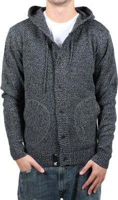 """LRG Revitalist Hooded Cardigan Sweater"""" if the front pockets were different"""
