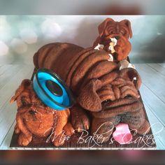Naughty Pups & Grumpy Granddad - Cake by Mr Baker's Cakes Doggie Cake, Mr Baker, Cake International, Gravity Defying Cake, 3d Dog, Baker Cake, Sculpted Cakes, Dog Cakes, Flower Cakes