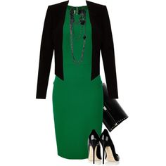 """""""Pencil Skirt Dress"""" by lbite1 on Polyvore"""