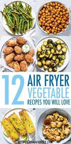 Tired of the same old boring and bland veggies? These 10 Amazing Air Fryer Vegetable Recipes are exactly what you Air Fryer Recipes Vegan, Air Fryer Dinner Recipes, Air Fryer Healthy, Lunch Recipes, Appetizer Recipes, Ninja Recipes, Juicer Recipes, Blender Recipes, Bread Recipes