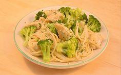 Receta de espagueti con pollo y brócoli