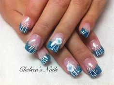 Turquoise embellished - Nail Art Gallery by NAILS Magazine