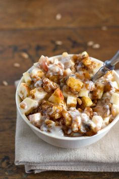 Brown Sugar Apple, Wheat Berry, & Yogurt Parfaits by pinchofyum #Healthy #Yogurt_Parfait #Apple