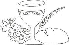 wijn druiven brood aren graan