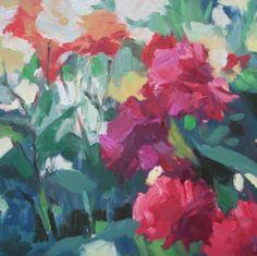 """""""Dahlias"""" by Alison Lowe Platt-SOLD"""