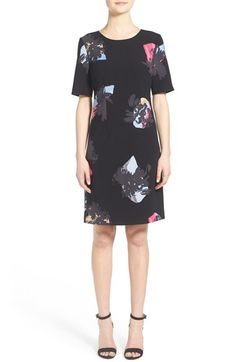 Ellen Tracy Floral Print Shift Dress (Regular & Petite) available at #Nordstrom