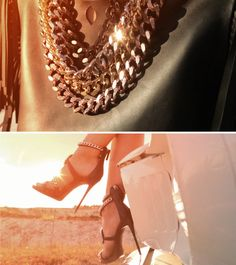 GZ REBEL ANGELS SS16: Shine on with the chain motif of the SAMANTHA sandal and the JESSE necklace.