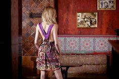 Short Dresses – Dress, bohemian, fringe, racer back,colorful, boho dress – a unique product by wildspiritclohes via en.dawanda.com