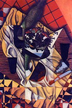 Grapes - Juan Gris - Canvas Art - Framed Art for Sale Kandinsky, Art Espagnole, Synthetic Cubism, Francis Picabia, Cubism Art, Spanish Art, Georges Braque, Spanish Painters, Art Database