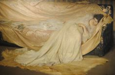 Antonio Rizzi, 'Study in White' (1896) Oil on canvas. Phoenix Art Museum.