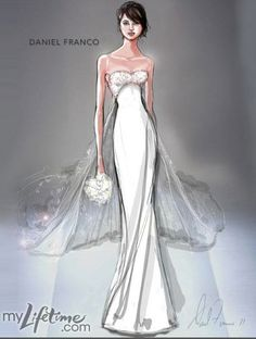 Daniel Franco Wedding Dress Sketch for Catherine Middleton
