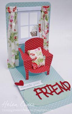 Pop 'n Cuts 3-D Chair & Window Card (with Tutorial)